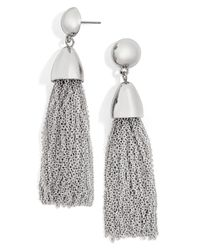 BaubleBar - Metallic Tassel Drop Earrings - Lyst