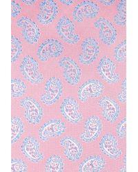 Eton of Sweden - Pink Paisley Silk Tie for Men - Lyst