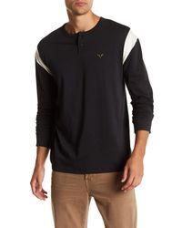 Volcom Black Antihero Long Sleeve Henley Shirt for men