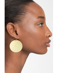 Argento Vivo - Metallic Large Disc Earrings - Lyst