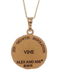 ALEX AND ANI | Metallic Vine Charm Necklace | Lyst