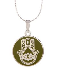 ALEX AND ANI - Metallic Hand Of Fatima Pendant Necklace - Lyst