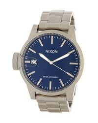 Nixon | Metallic Men's Chronicle Bracelet Watch for Men | Lyst