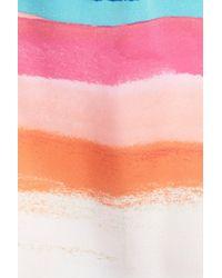Natori Multicolor 'aurora' Print Satin Tunic