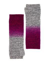 Sofia Cashmere - Purple Cashmere Dip Dye Marl Finglerless Gloves - Lyst