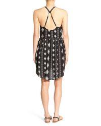 Amuse Society - Black 'ashby' Print Dress - Lyst