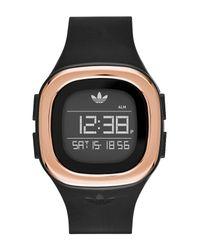 Adidas Originals - Black Unisex Denver Lcd Watch - Lyst