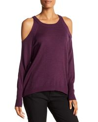 Ramy Brook | Purple Tasha Cold Shoulder Wool Sweater | Lyst