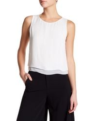 Alice + Olivia | White Fanny Silk Double Layer Tank | Lyst