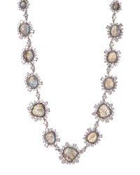 Nadri - Metallic Oasis Stone & Crystal Halo Set Bead Necklace - Lyst