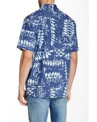Quiksilver | Blue Waterman Kings Point Printed Short-sleeve Shirt for Men | Lyst