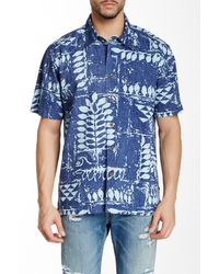 Quiksilver | Blue Waterman Kings Point Printed Short-sleeve Shirt for Men | Lyst