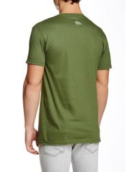 Quiksilver | Green Graphic Print Short Sleeve Regular Fit Tee for Men | Lyst