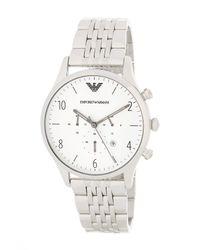 Emporio Armani | Metallic Men's Beta Chronograph Bracelet Watch for Men | Lyst