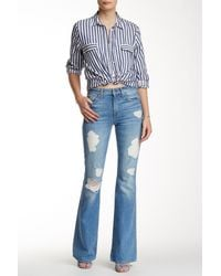 7 For All Mankind | Blue High Waist Vintage Bootcut Jean | Lyst