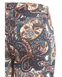 7 For All Mankind Multicolor Print Crop Jeans (underground Paisley)