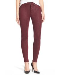 7 For All Mankind | Red High Waist Ankle Skinny Pant | Lyst