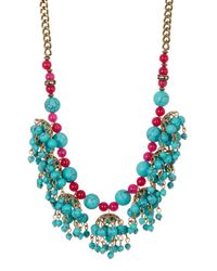 Betsey Johnson - Green Shaky Frontal Necklace - Lyst