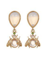 Betsey Johnson - Metallic Opal Bug Mix Match Earrings - Lyst