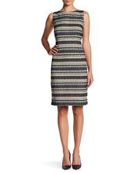 Chetta B | Black Print Sheath Dress | Lyst