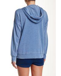 Volcom Blue Lived In Fleece Zip Hoodie