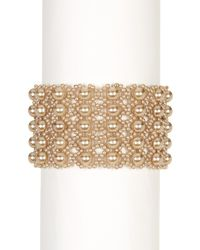 Carolee | Metallic Beaded Drama Stretch Bracelet | Lyst