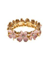 Carolee - Multicolor Cz Floral Stretch Bracelet - Lyst