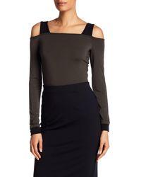 Bailey 44 - Black Long Sleeve Cold Shoulder Shirt - Lyst