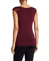 Bailey 44 - Red Cap Sleeve Shirt - Lyst