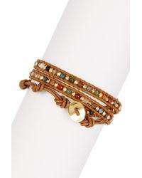 Chan Luu - Multicolor Assorted Stone Beaded Leather Wrap Bracelet - Lyst