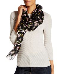 Betsey Johnson Black Flower Bomb Wrap