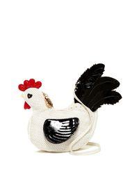Betsey Johnson | White Rooster Crossbody | Lyst