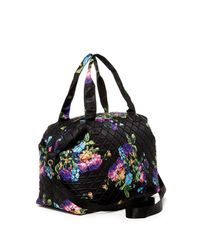 Steve Madden - Black Quilt 2s Quilted Nylon Weekend Bag - Lyst