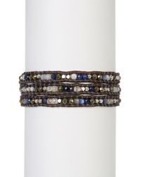 Chan Luu | Multicolor Leather & Sodalite Mix Beaded Wrap Bracelet | Lyst