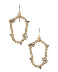 Alexis Bittar | Metallic Elements Pave Irregular Oval Earrings | Lyst