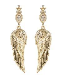 House of Harlow 1960 - Metallic Embellished Drop Angel Wing Stud Earrings - Lyst