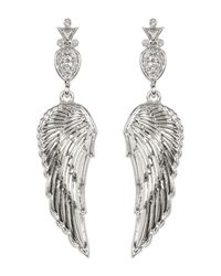House of Harlow 1960 - Metallic Embellished Drop Angel Wing Stud Earrings - Lyst