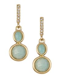 Karen Kane | Green Marina Double Drop Earrings | Lyst