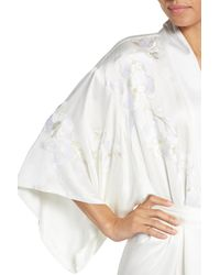 Natori - White Orchid Embroidered Wrap - Lyst