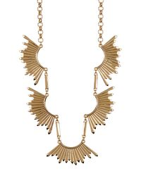 Catherine Malandrino | Metallic Sunburst Statement Necklace | Lyst