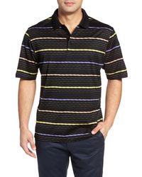Bugatchi   Black Stripe Polo for Men   Lyst