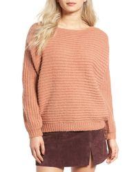 Glamorous | Pink Open Back Boyfriend Sweater | Lyst