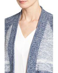 Caslon - Blue Caslon Cuffed Sleeve Long Cardigan - Lyst