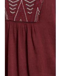 Caslon - Embroidered Peasant Top - Lyst