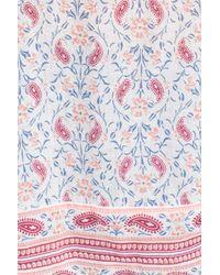 Caslon Multicolor Caslon Print Cotton Tie Neck Peasant Blouse