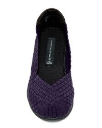 Steven by Steve Madden - Purple Anniie Leather Flats - Lyst