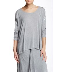 Apres Ramy Brook - Gray Stacy Long Sleeve Tee - Lyst