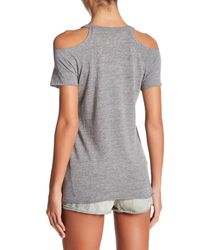 Chaser | Gray Cold-shoulder Tee | Lyst