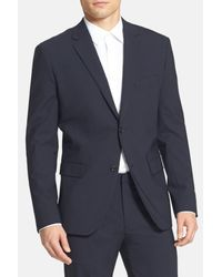 Theory | Blue 'wellar New Tailor' Trim Fit Wool Blend Sport Coat for Men | Lyst