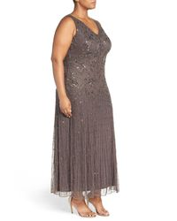 Pisarro Nights - Multicolor Beaded Sleeveless Maxi Dress (plus Size) - Lyst